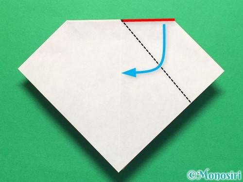 折り紙で立体的な紫陽花の作り方手順23