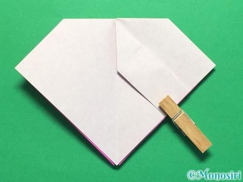 折り紙で立体的な紫陽花の作り方手順24