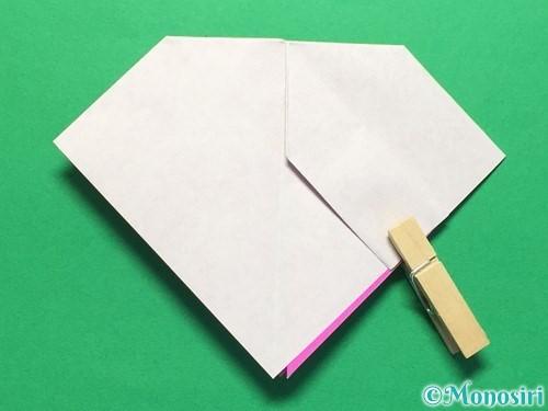 折り紙で立体的な紫陽花の作り方手順25