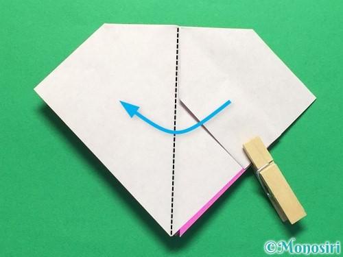 折り紙で立体的な紫陽花の作り方手順26