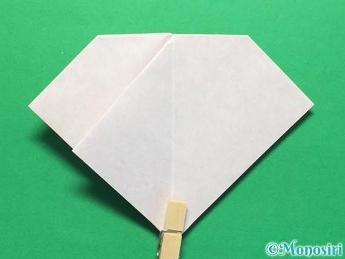 折り紙で立体的な紫陽花の作り方手順27