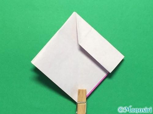 折り紙で立体的な紫陽花の作り方手順29