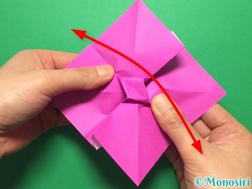 折り紙で立体的な紫陽花の作り方手順31