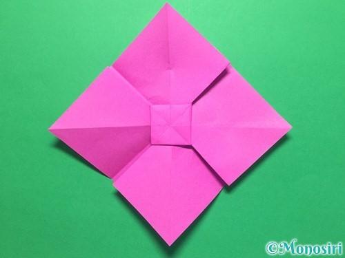 折り紙で立体的な紫陽花の作り方手順33