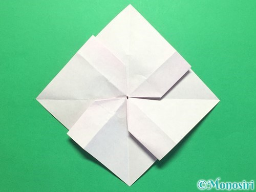 折り紙で立体的な紫陽花の作り方手順34