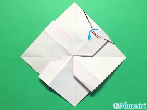 折り紙で立体的な紫陽花の作り方手順35