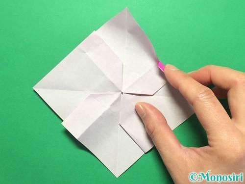 折り紙で立体的な紫陽花の作り方手順36