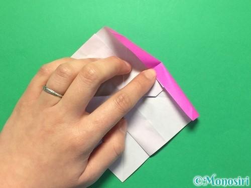 折り紙で立体的な紫陽花の作り方手順37