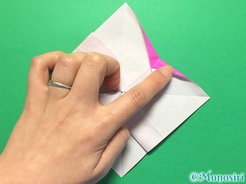 折り紙で立体的な紫陽花の作り方手順38