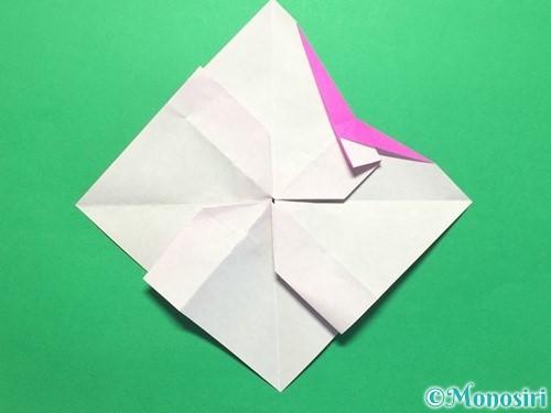 折り紙で立体的な紫陽花の作り方手順39