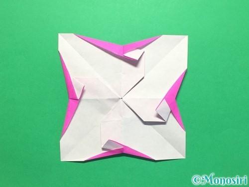 折り紙で立体的な紫陽花の作り方手順40