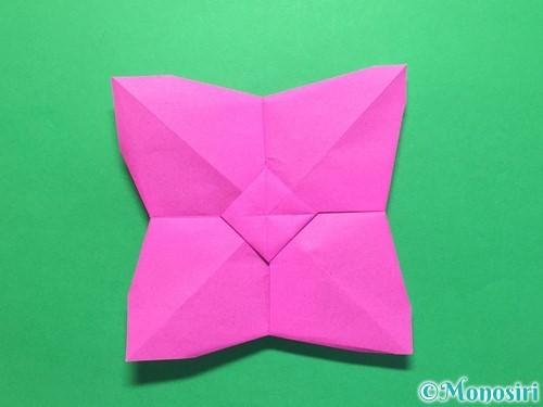 折り紙で立体的な紫陽花の作り方手順41
