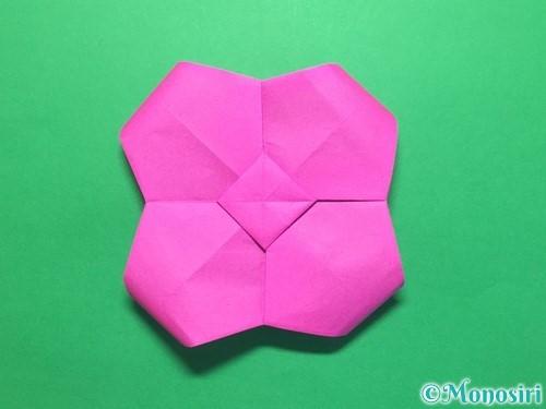 折り紙で立体的な紫陽花の作り方手順45