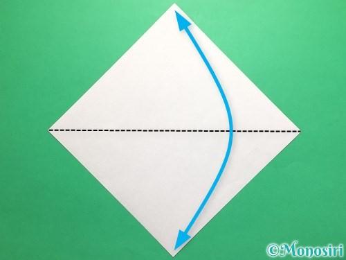 折り紙でカタツムリの折り方手順1