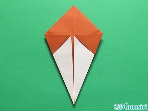 折り紙でカタツムリの折り方手順17