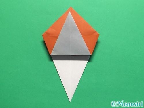 折り紙でカタツムリの折り方手順19