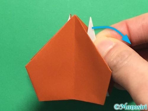 折り紙でカタツムリの折り方手順24
