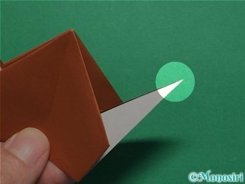 折り紙でカタツムリの折り方手順27