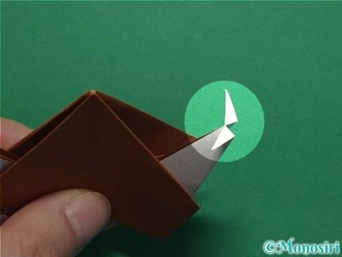 折り紙でカタツムリの折り方手順28