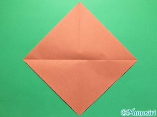 折り紙で立体的なかたつむりの折り方手順2