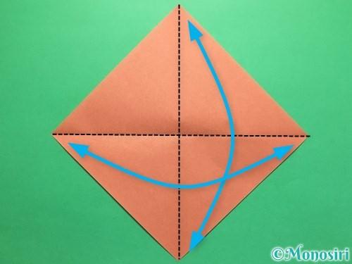 折り紙で立体的なかたつむりの折り方手順1