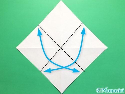 折り紙で立体的なかたつむりの折り方手順4