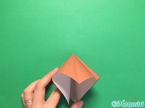 折り紙で立体的なかたつむりの折り方手順7