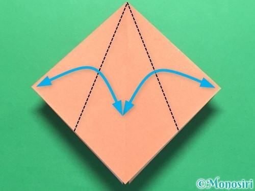 折り紙で立体的なかたつむりの折り方手順9