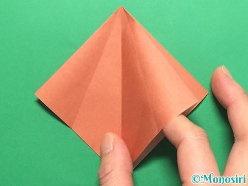 折り紙で立体的なかたつむりの折り方手順11