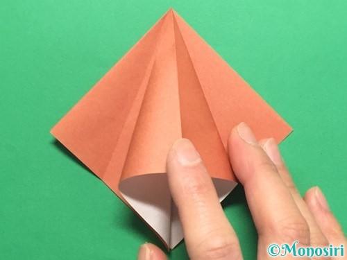 折り紙で立体的なかたつむりの折り方手順12