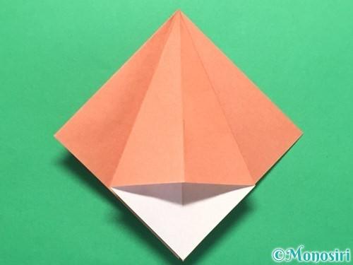 折り紙で立体的なかたつむりの折り方手順13