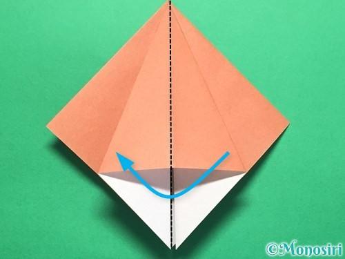 折り紙で立体的なかたつむりの折り方手順14
