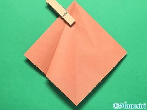 折り紙で立体的なかたつむりの折り方手順15