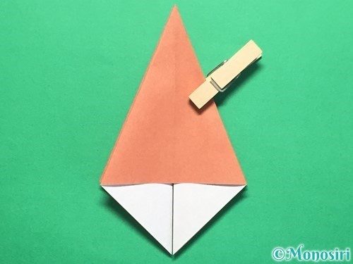 折り紙で立体的なかたつむりの折り方手順16