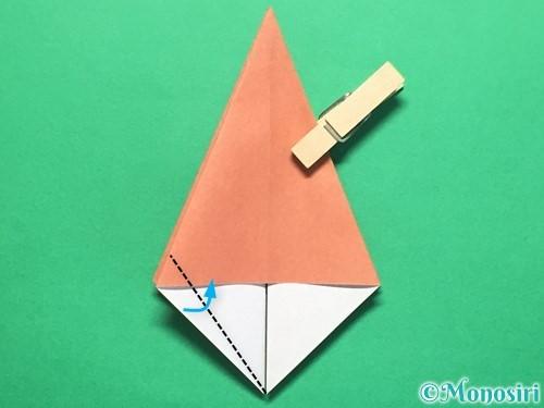 折り紙で立体的なかたつむりの折り方手順17