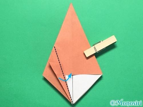 折り紙で立体的なかたつむりの折り方手順19