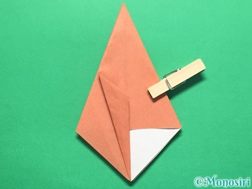 折り紙で立体的なかたつむりの折り方手順20