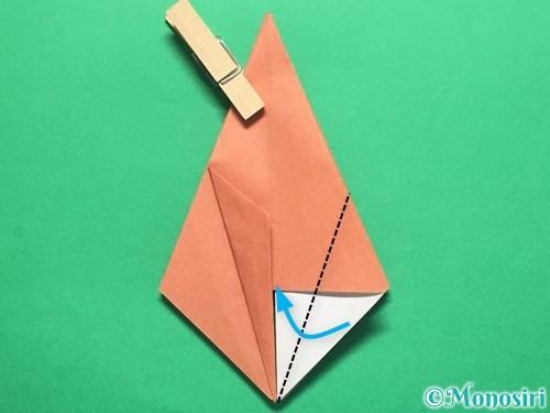 折り紙で立体的なかたつむりの折り方手順21
