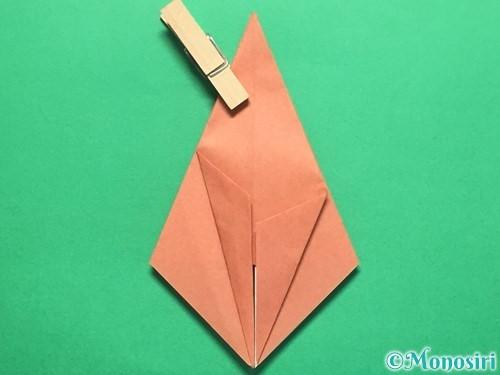 折り紙で立体的なかたつむりの折り方手順22