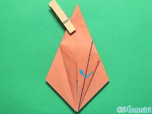 折り紙で立体的なかたつむりの折り方手順23
