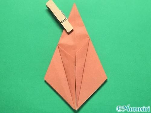 折り紙で立体的なかたつむりの折り方手順24