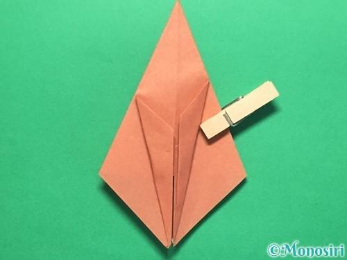 折り紙で立体的なかたつむりの折り方手順25