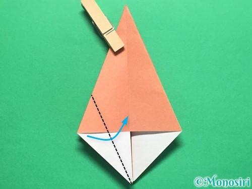 折り紙で立体的なかたつむりの折り方手順28