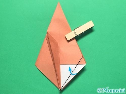 折り紙で立体的なかたつむりの折り方手順32