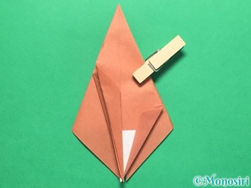 折り紙で立体的なかたつむりの折り方手順33