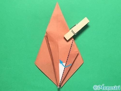 折り紙で立体的なかたつむりの折り方手順34