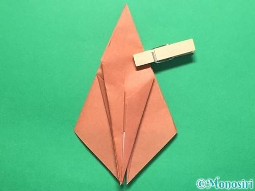 折り紙で立体的なかたつむりの折り方手順35