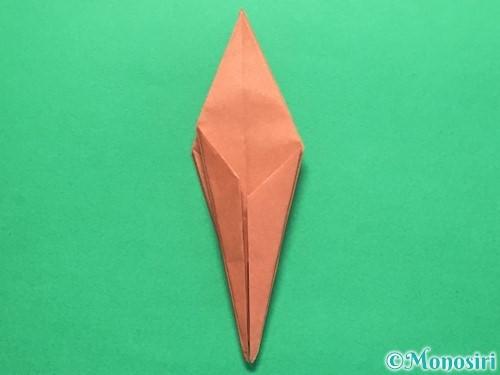 折り紙で立体的なかたつむりの折り方手順36