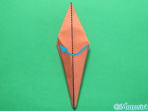 折り紙で立体的なかたつむりの折り方手順37