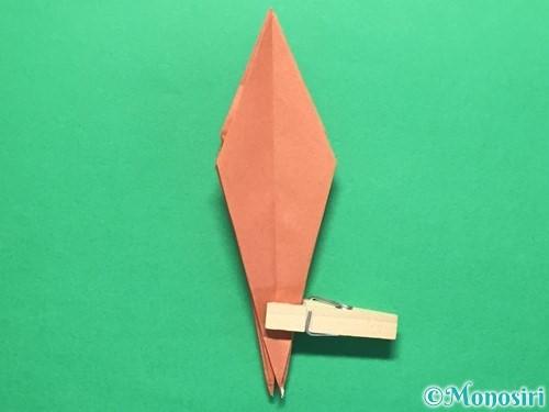 折り紙で立体的なかたつむりの折り方手順38